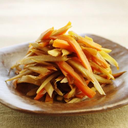 簡単ヘルシー野菜レシピ|ごぼうとにんじんのヘルシーきんぴら